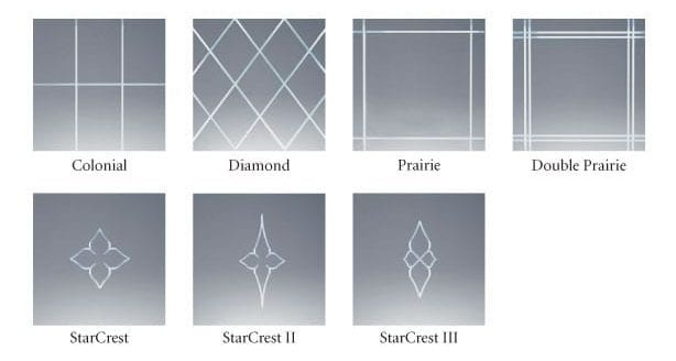 V-Groove Cut Glass Styles